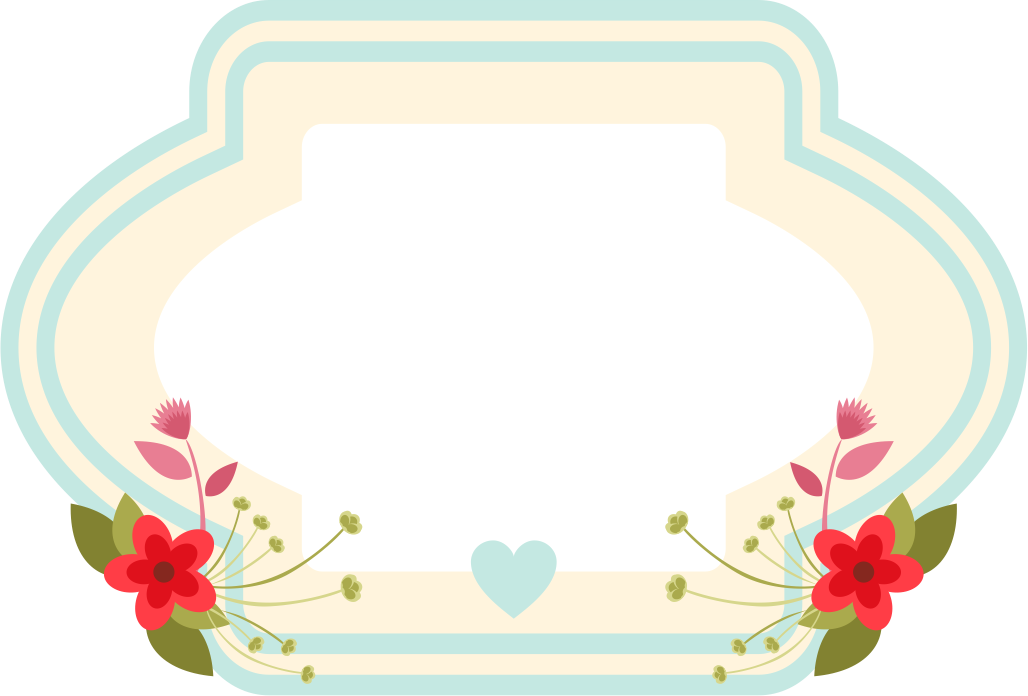 Boho cow head with flower crown clipart image library library Frame floral em png para baixar | Elsy> Etiquet@s | Bordes y m@s ... image library library