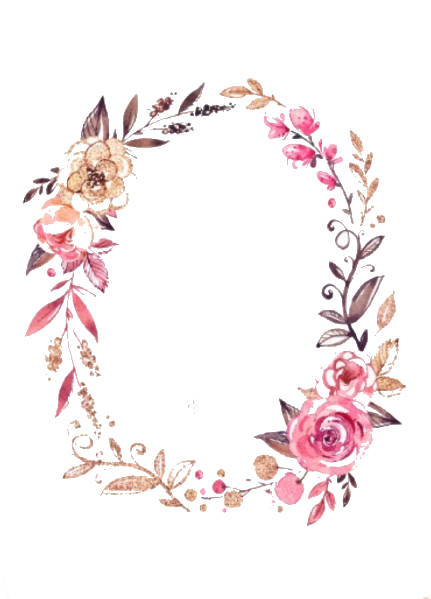 Graphic designs pinterest wreaths. Flower wreath clipart