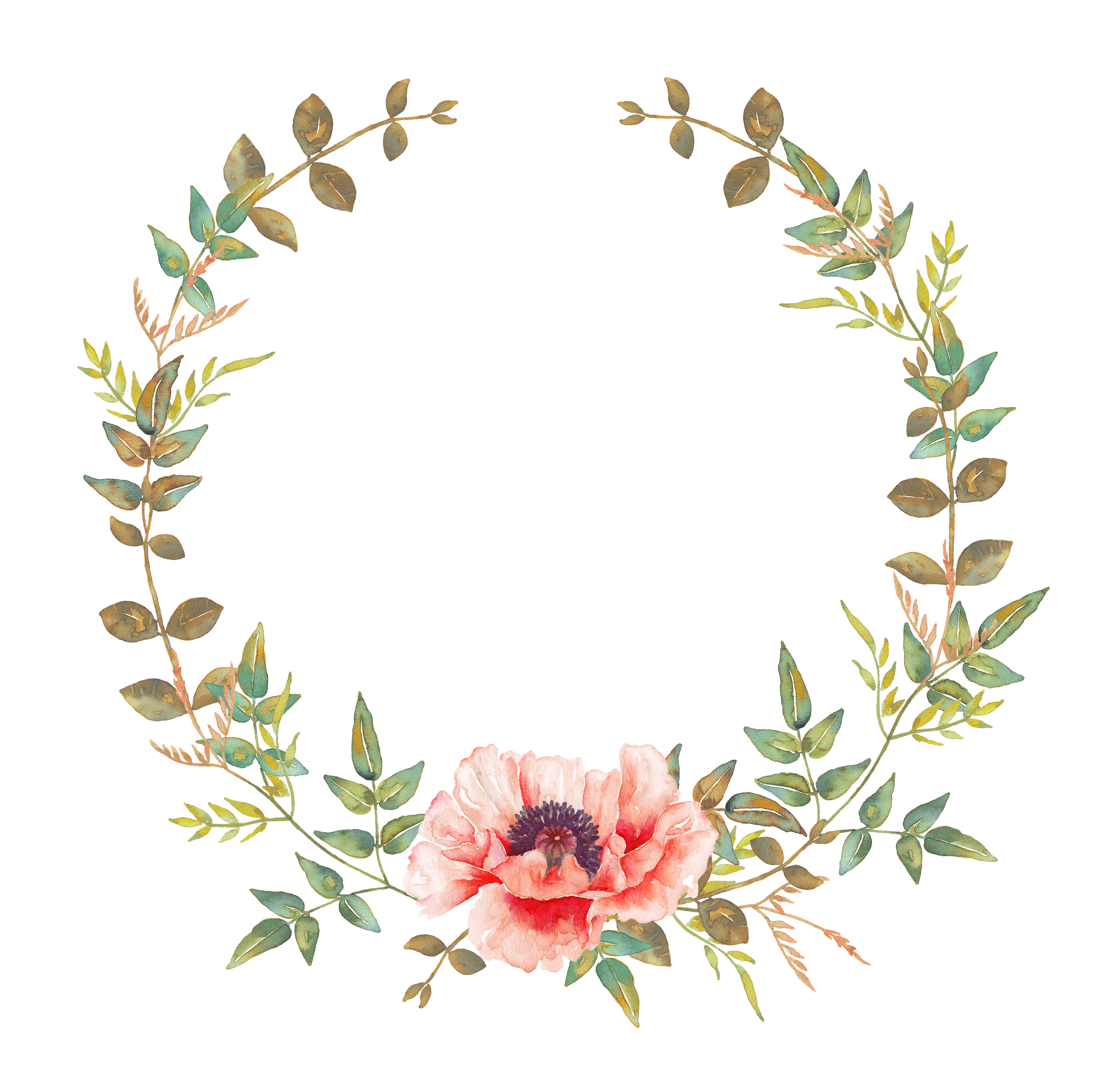 Flower wreath clipart. Pin by on pinterest
