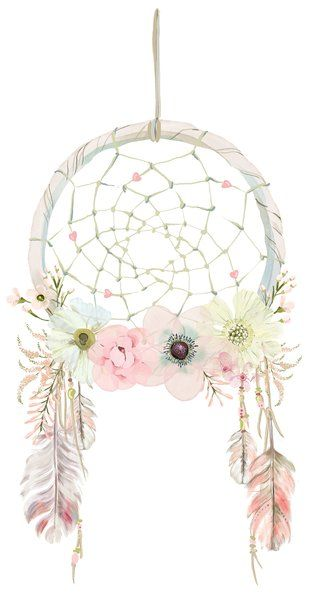 Boho dreamcatcher clipart image black and white Large Boho Dreamcatcher Wall Decal | craft ideas | Pinterest | Dream ... image black and white
