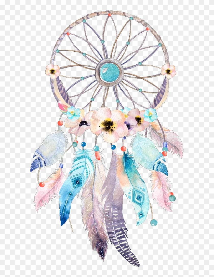Boho dreamcatcher clipart vector library stock dreamcatcher #watercolor #flower #wonderland #fairytale - Clipart ... vector library stock