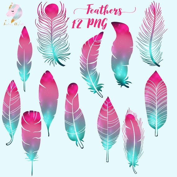 Boho feathers clipart image Galaxy feathers, feather clipart, cosmic feathers, feathers clip art ... image