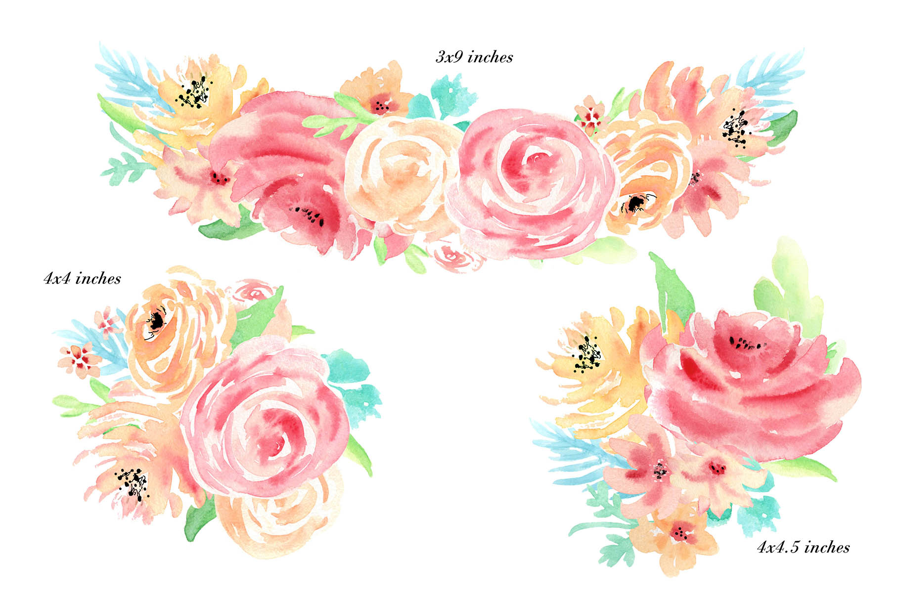Boho floral clipart clipart Boho Watercolor Flowers at PaintingValley.com | Explore collection ... clipart