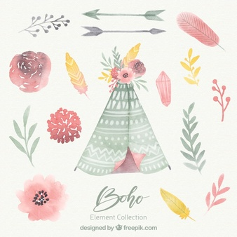 Boho floral clipart library Boho Vectors, Photos and PSD files | Free Download library
