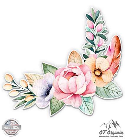 Boho flower bouquet clipart png royalty free library Amazon.com: GT Graphics Flower Bouquet Watercolor Boho Art - Large ... png royalty free library