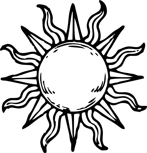 Moon and sun wiccan clipart free picture library sun line art - Google Search | Line art | Pinterest | Art google ... picture library