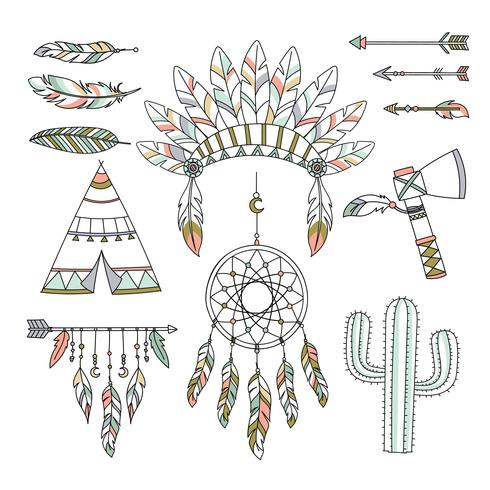 Boho tribal clipart graphic library download Decorative Boho Tribal Style Vector - Download Free Vector Art ... graphic library download