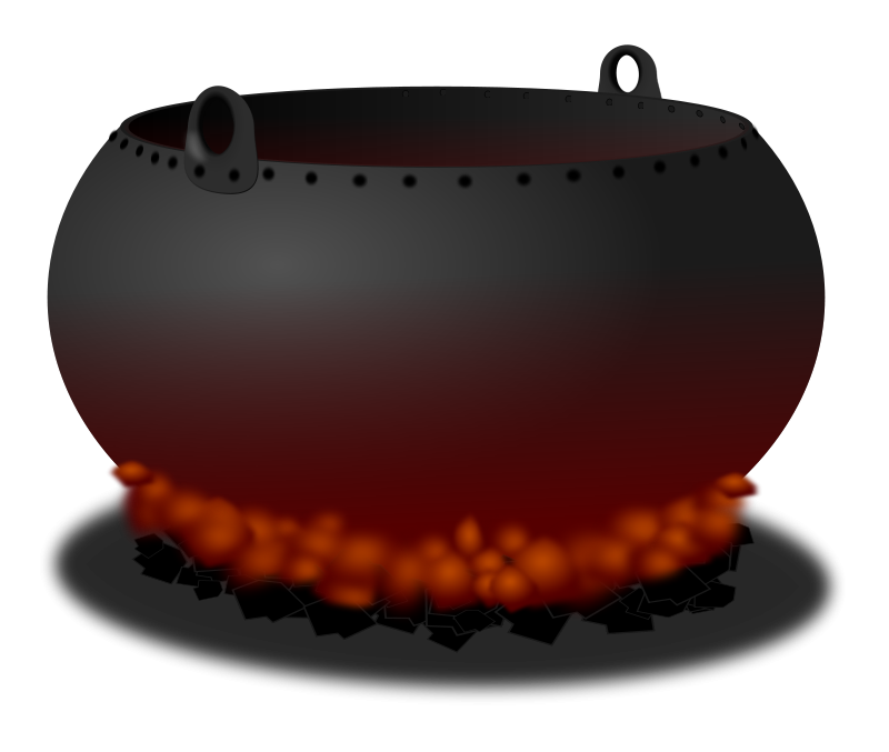 Free Witches Cauldron Clipart, 1 page of free to use images jpg black and white download
