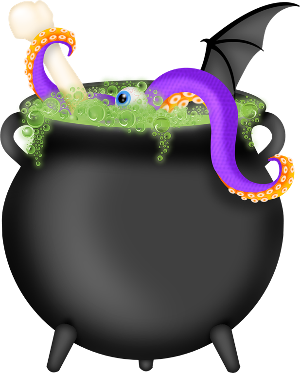 28+ Collection of Witch With Cauldron Clipart Free | High quality ... picture royalty free