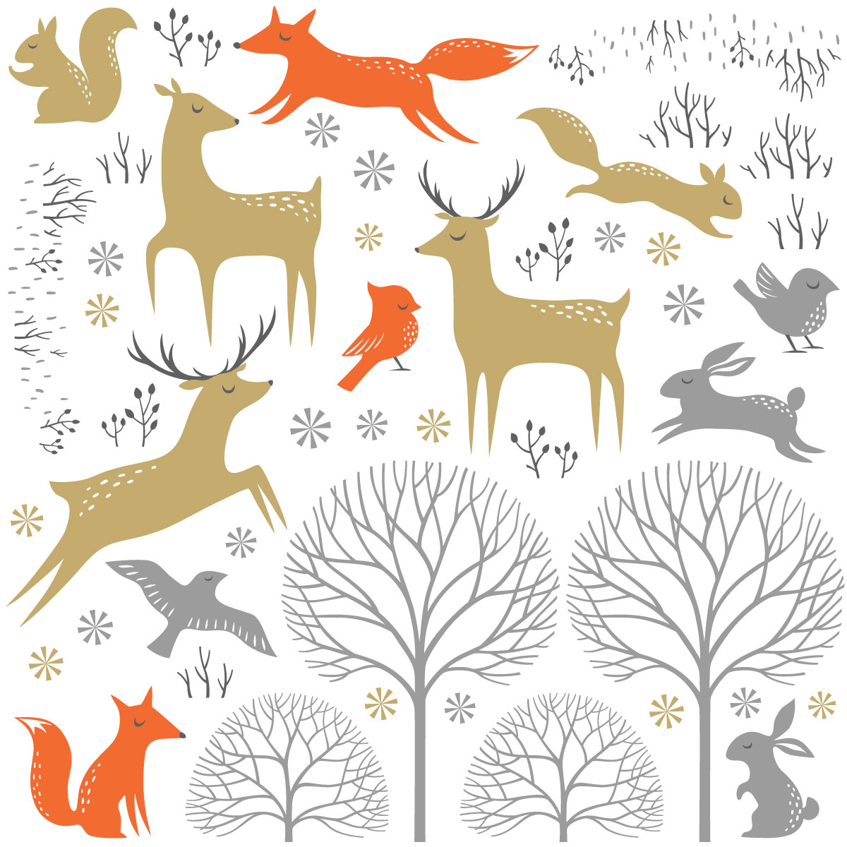 Bois d automne clipart vector freeuse library Stickers animaux des bois d\'automne vector freeuse library