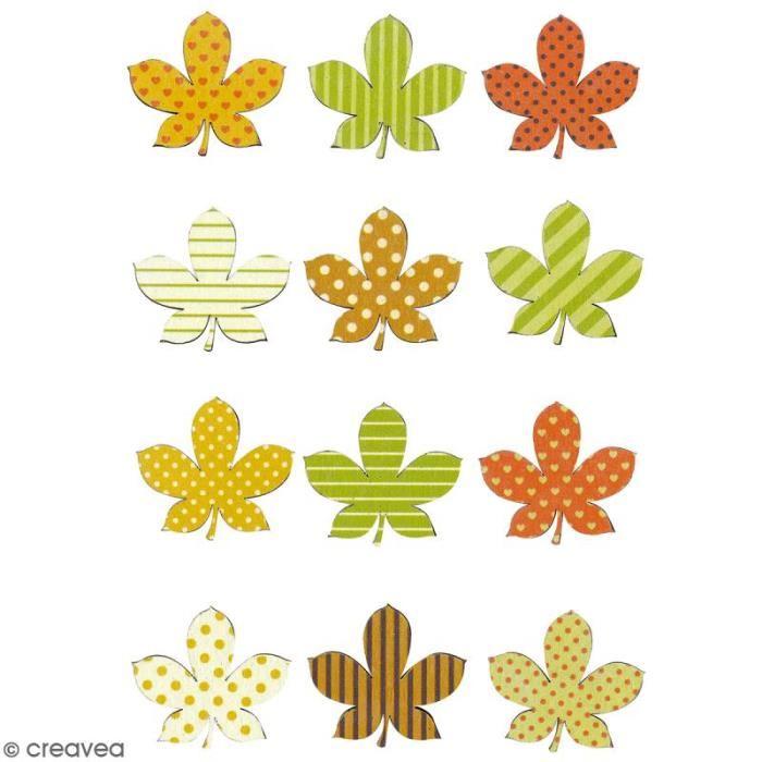 Bois d automne clipart clip art stock Stickers en bois - Feuilles d\'automne - 12 pcs Autocollants en bois ... clip art stock