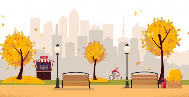 Bois d automne clipart clip art free download Parc d\'automne à feuilles d\'automne. parc public de la ville avec ... clip art free download