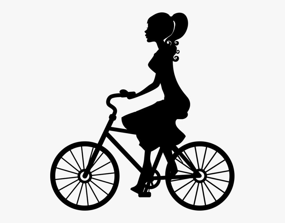 Bikibg clipart picture royalty free download Biking Clipart Public Domain - Girl On Bike Silhouette #68405 - Free ... picture royalty free download