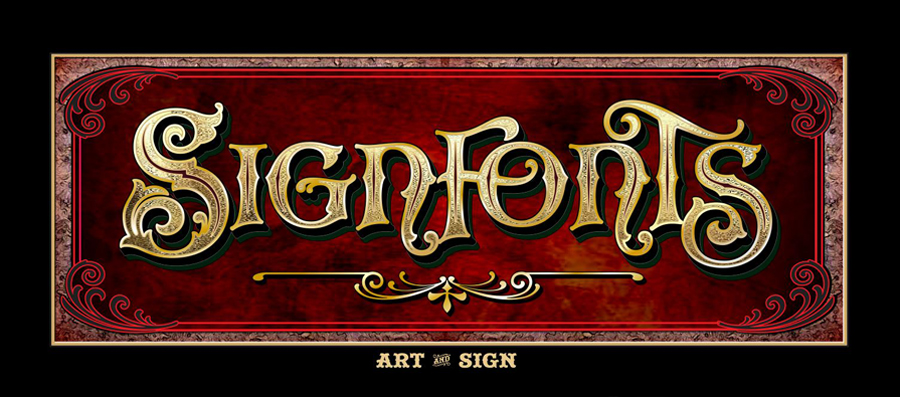 Bold decorative sign border for anttique signs clipart royalty free download Signfonts.com - Hand Painted Fonts for Artist and Sign Painters royalty free download