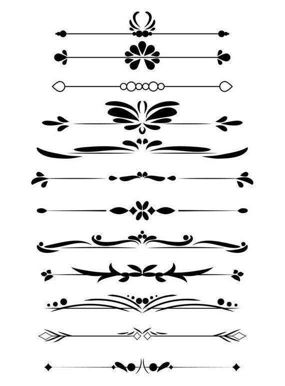 White divider clipart jpg royalty free download 12 Decorative Dividers, Flourish Clipart, Text Divider Clipart ... jpg royalty free download