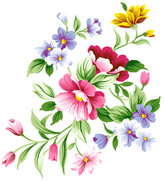Bold watercolor flower clipart blue yellow pink graphic royalty free Flowers Decoration PNG Clipart | Art | Pinterest | Flowers ... graphic royalty free