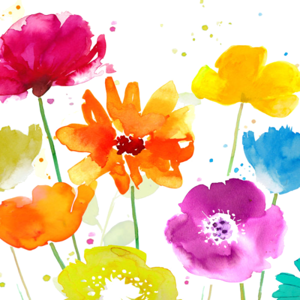 Bold watercolor flower clipart blue yellow pink graphic library library fleurs,flores,flowers,bloemen,png | Bangtan Kings N Princes ... graphic library library