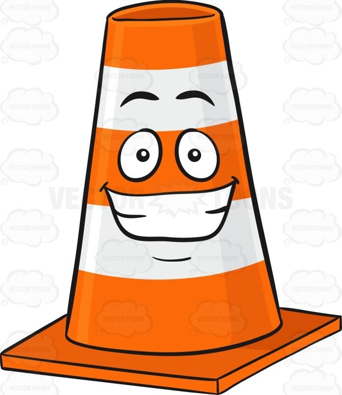 Bollard clipart svg transparent download Traffic Cone Character With Big Cheesy Grin Emoji #barrier #block ... svg transparent download