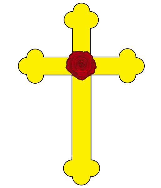 Cross laying on bible clipart clip library download File:Rose Cross.png - Wikipedia clip library download