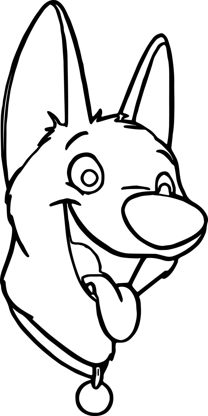 Bolt the dog black and white clipart graphic freeuse stock Bolt Dog Face Coloring Pages » Printable Coloring Pages For Kids graphic freeuse stock