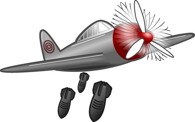 Bomber plane clipart