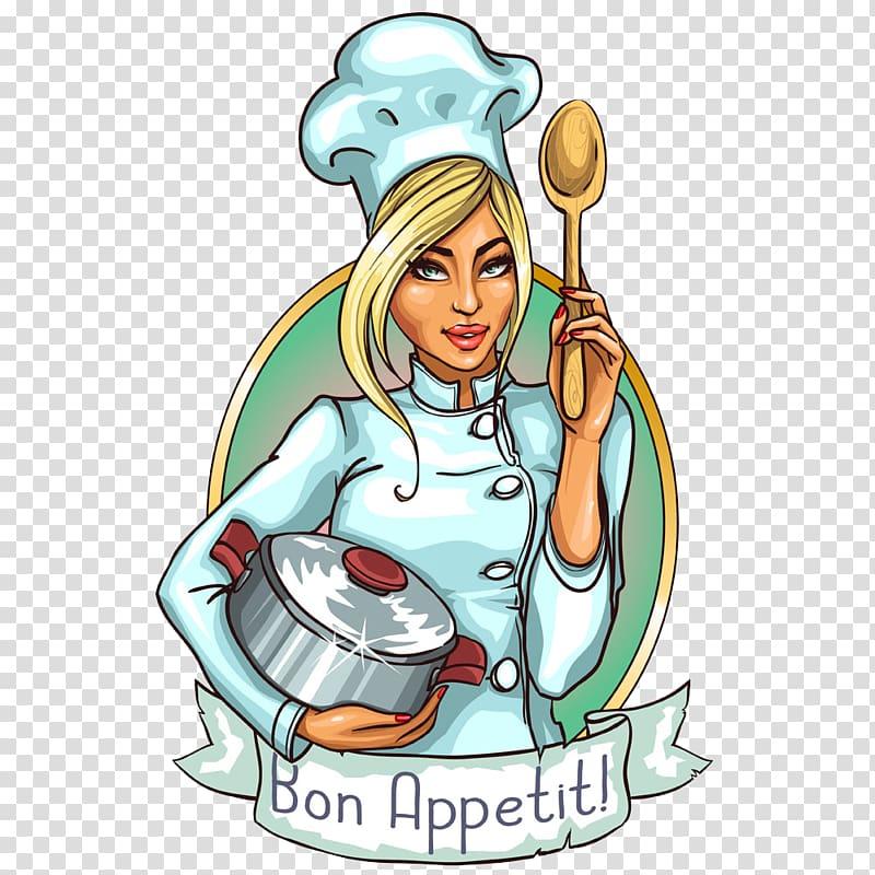 Bon appetit logo clipart vector free download Bon Appetit illustration, Chef Cooking Cartoon , Chef logo ... vector free download
