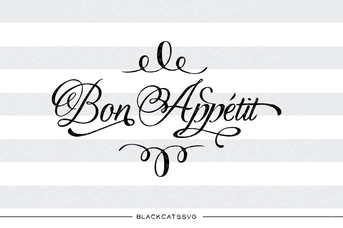 Bon appetit logo clipart clipart freeuse Bon appetit SVG file Cutting File Clipart in Svg, Eps, Dxf, Png for Cricut  & Silhouette clipart freeuse