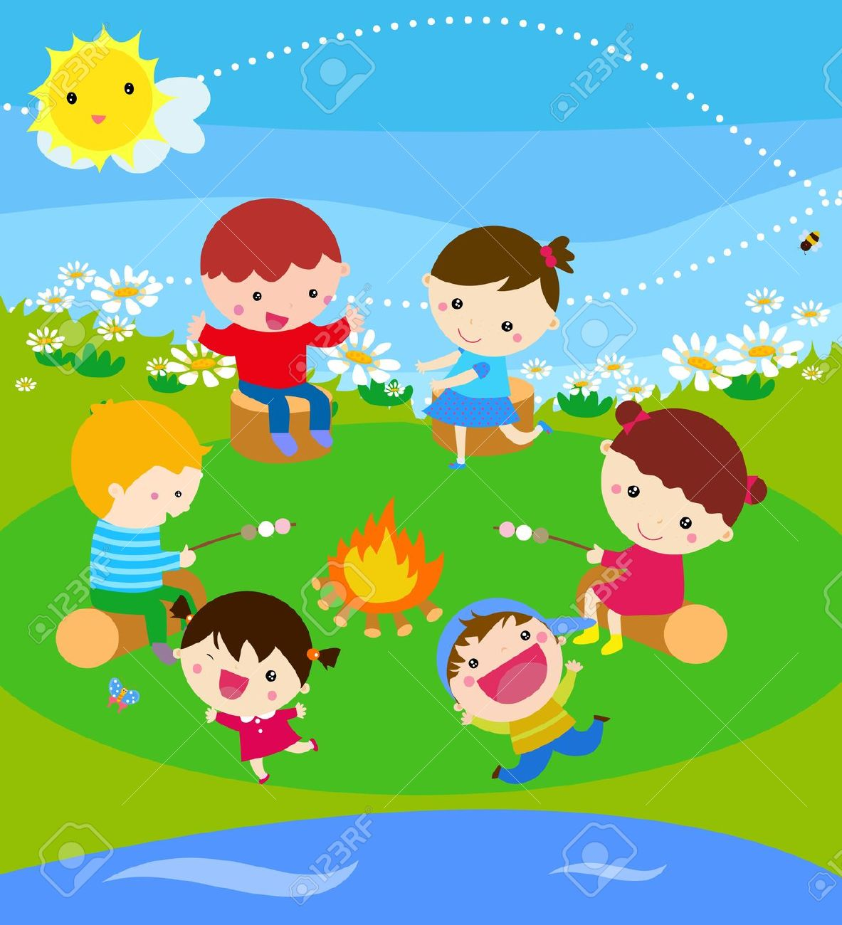 Bonfire with kids clipart clip library stock 27,907 Bonfire Cliparts, Stock Vector And Royalty Free Bonfire ... clip library stock