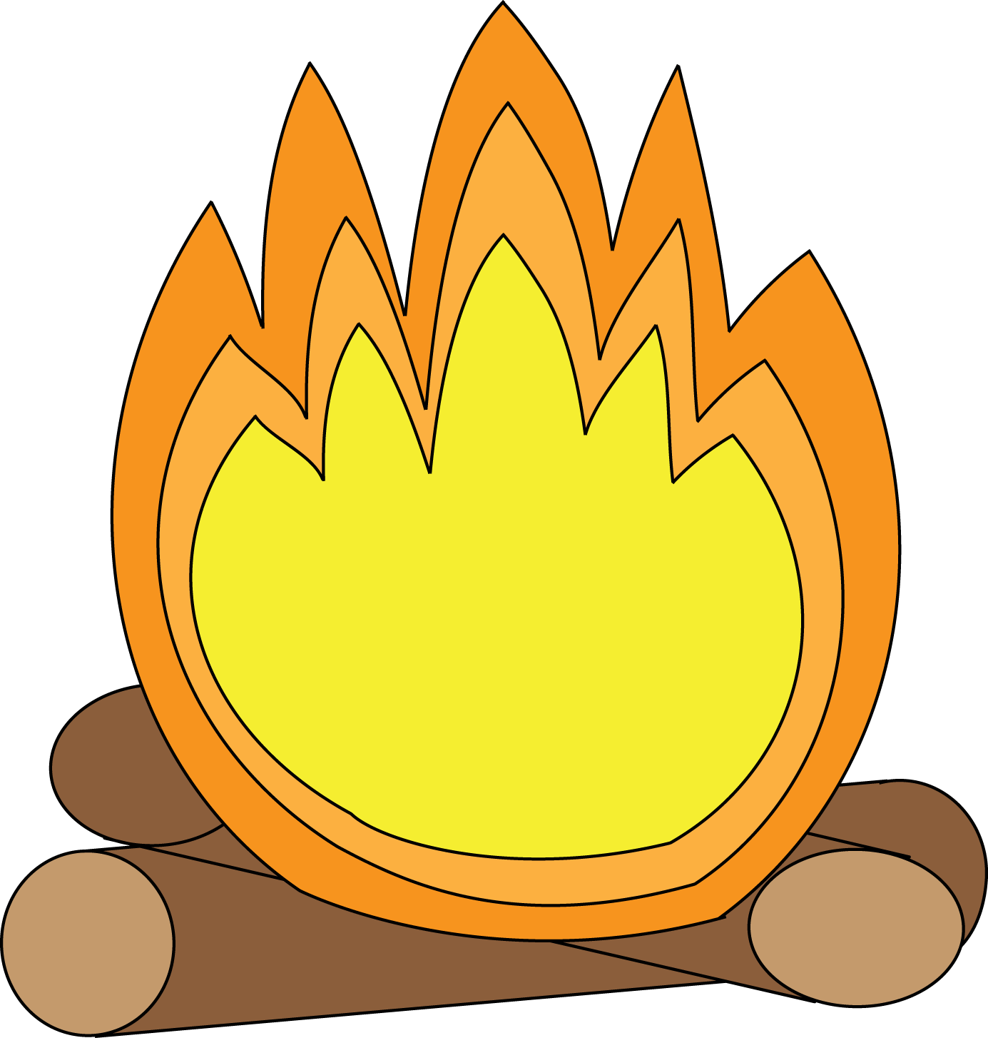Bonfire with kids clipart vector transparent download Bonfire Clipart - Clipart Kid vector transparent download