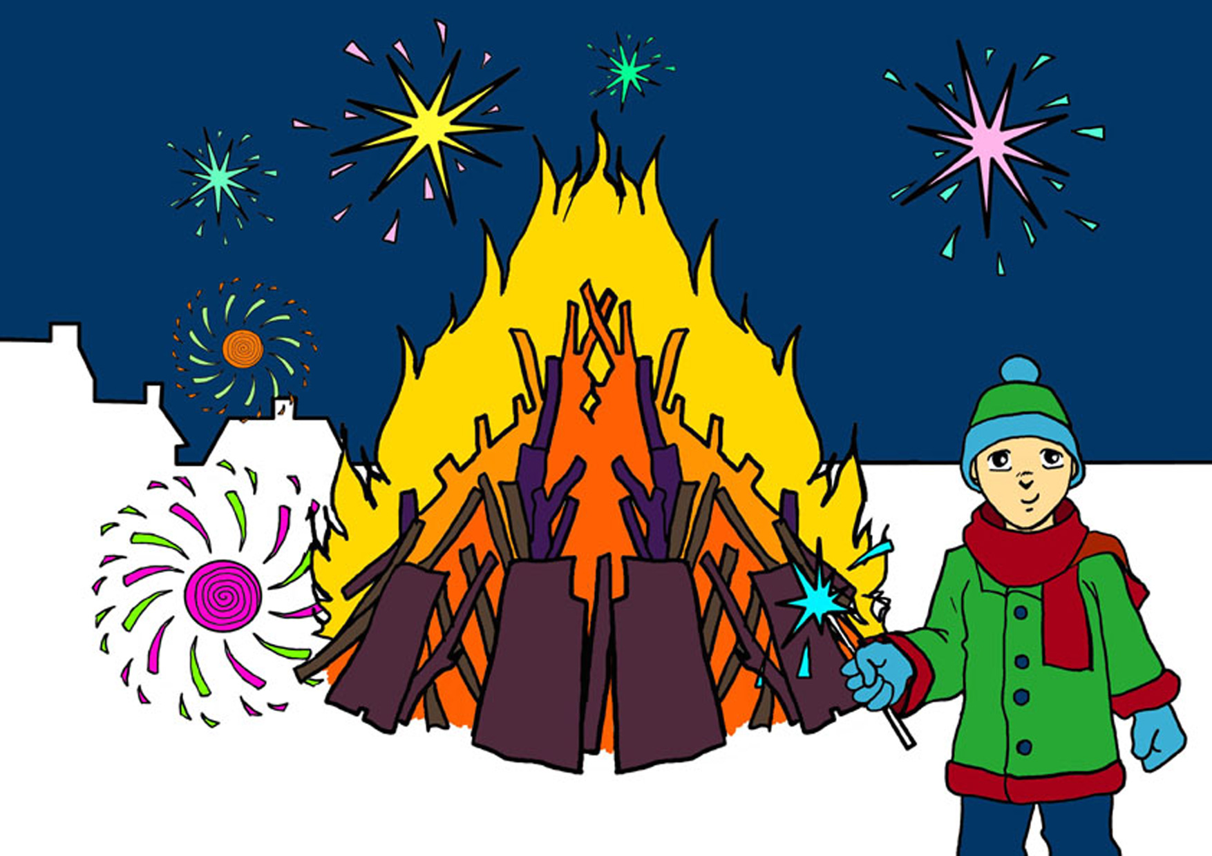 Bonfire with kids clipart clip art royalty free library Kids and bonfire clipart - ClipartFest clip art royalty free library