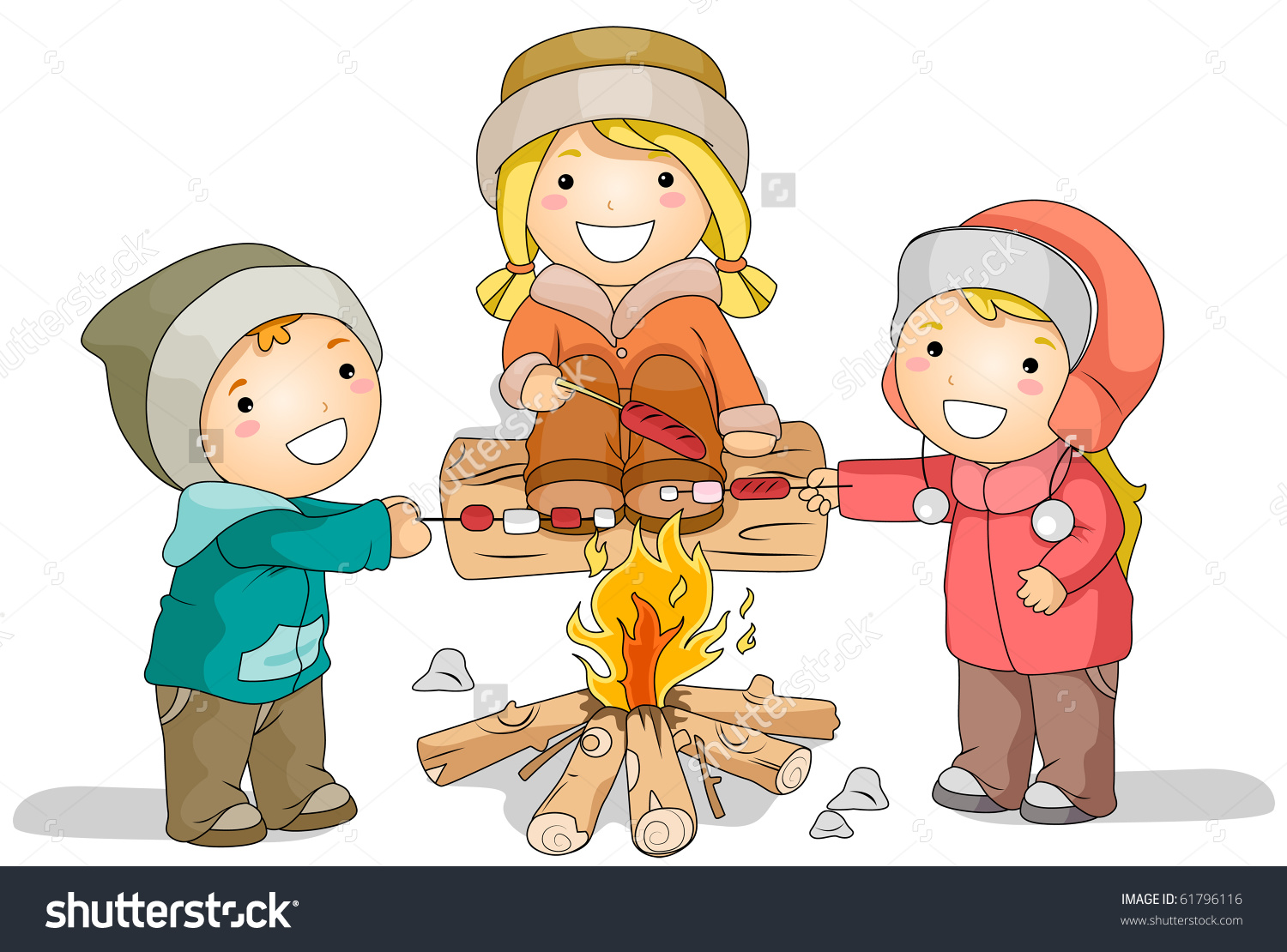 Bonfire with kids clipart vector royalty free download Kids and bonfire clipart - ClipartFest vector royalty free download