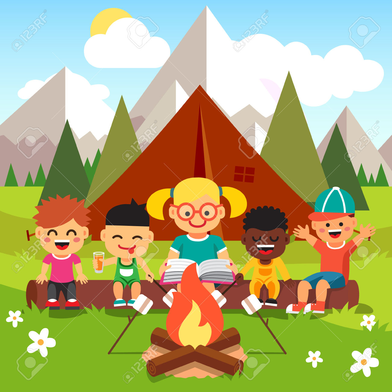 Bonfire with kids clipart banner free stock 27,907 Bonfire Cliparts, Stock Vector And Royalty Free Bonfire ... banner free stock