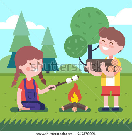 Bonfire with kids clipart clipart library Kids Campfire Stock Images, Royalty-Free Images & Vectors ... clipart library