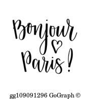 Bonjour paris clipart free Bonjour Clip Art - Royalty Free - GoGraph free