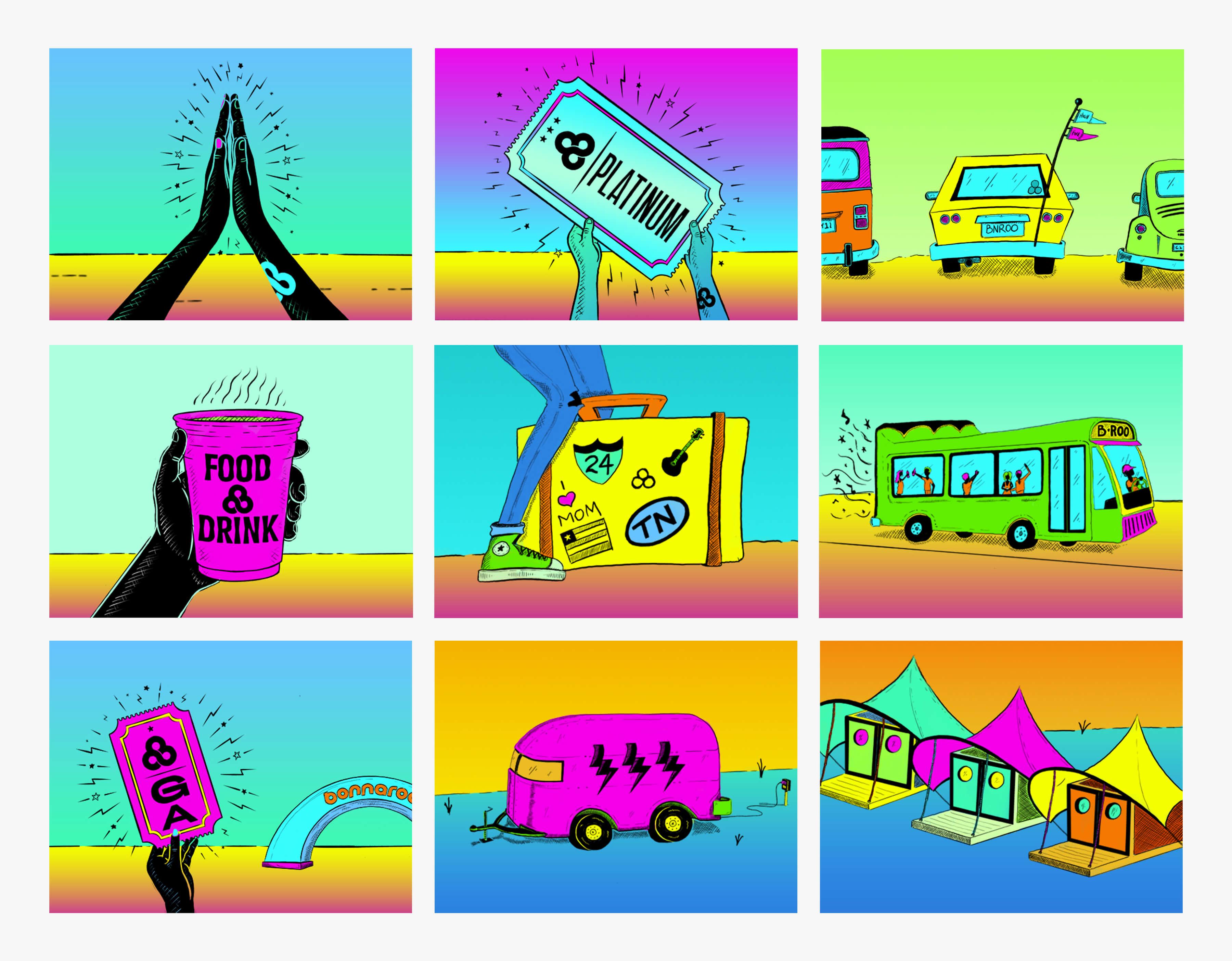 Bonneroo clipart vector download Bonnaroo Music & Arts Festival - ST8MNT BRAND AGENCY vector download