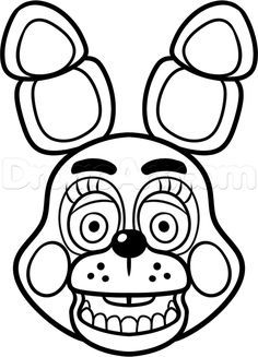 Bonnie from five nights at freddy s clipart svg black and white library How to Draw Toy Bonnie From Five Nights at Freddys 2, Step by Step ... svg black and white library