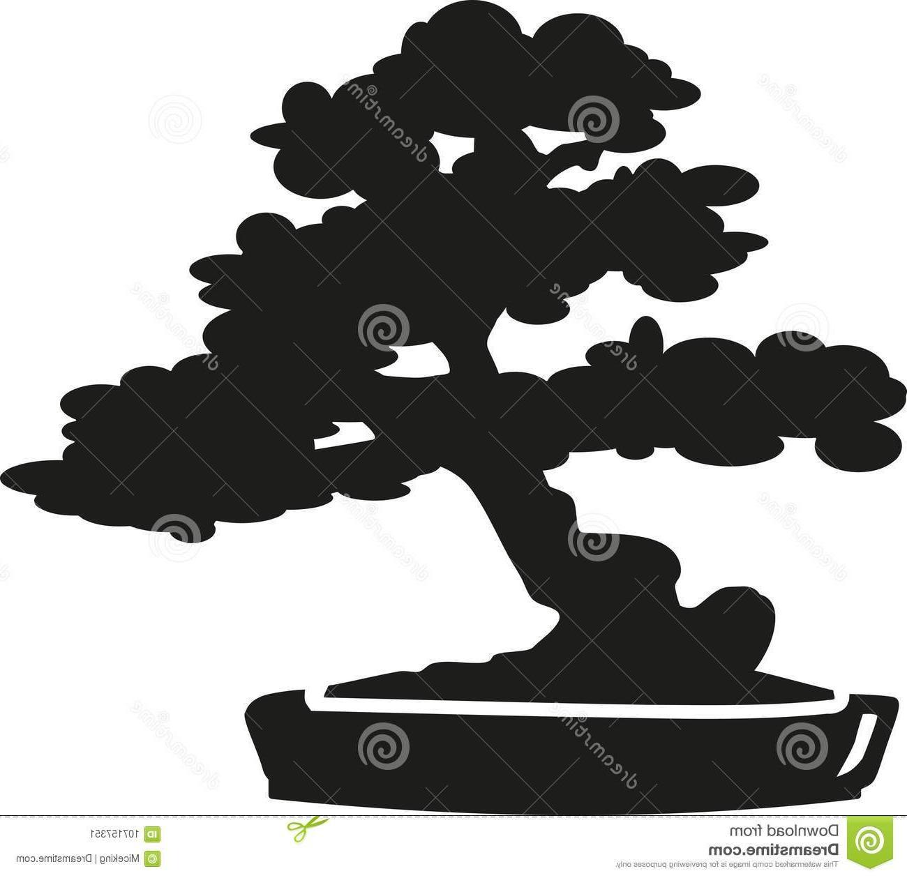Bonsai tree silhouette clipart free Top Bonsai Tree Silhouette Vector Cdr » Free Vector Art, Images ... free