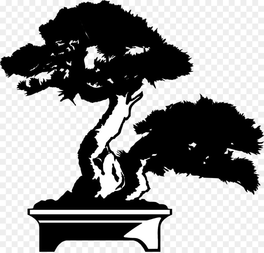 Bonsai tree silhouette clipart clip art free Oak Tree Silhouette png download - 958*911 - Free Transparent Bonsai ... clip art free