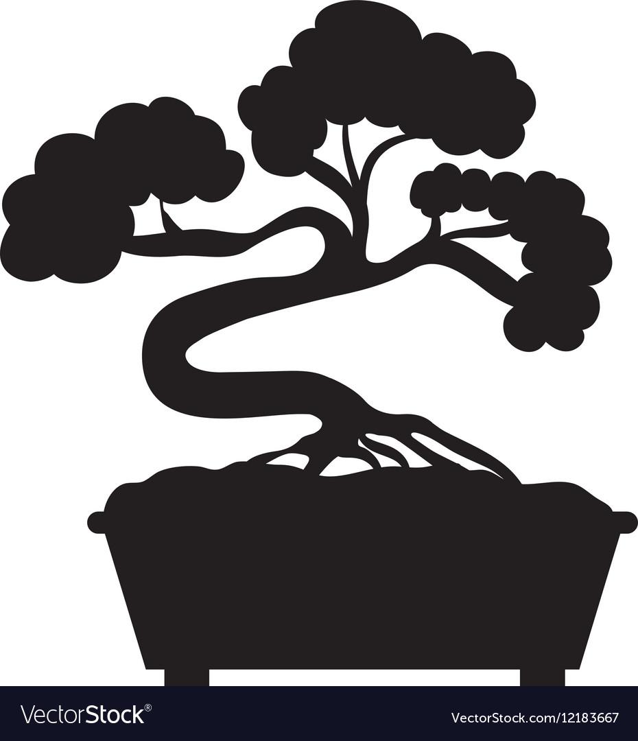 Bonsai tree silhouette clipart clip art free download Bonsai japanese tree clip art free download