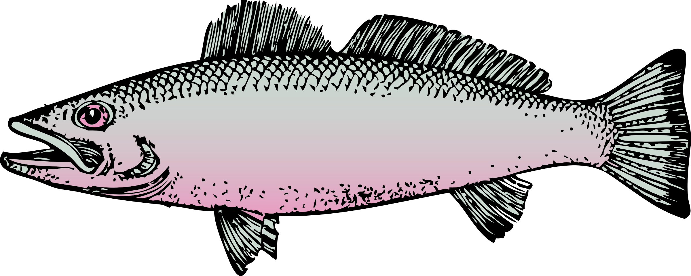 Surprised fish clipart clipart black and white download Clipart - fish clipart black and white download