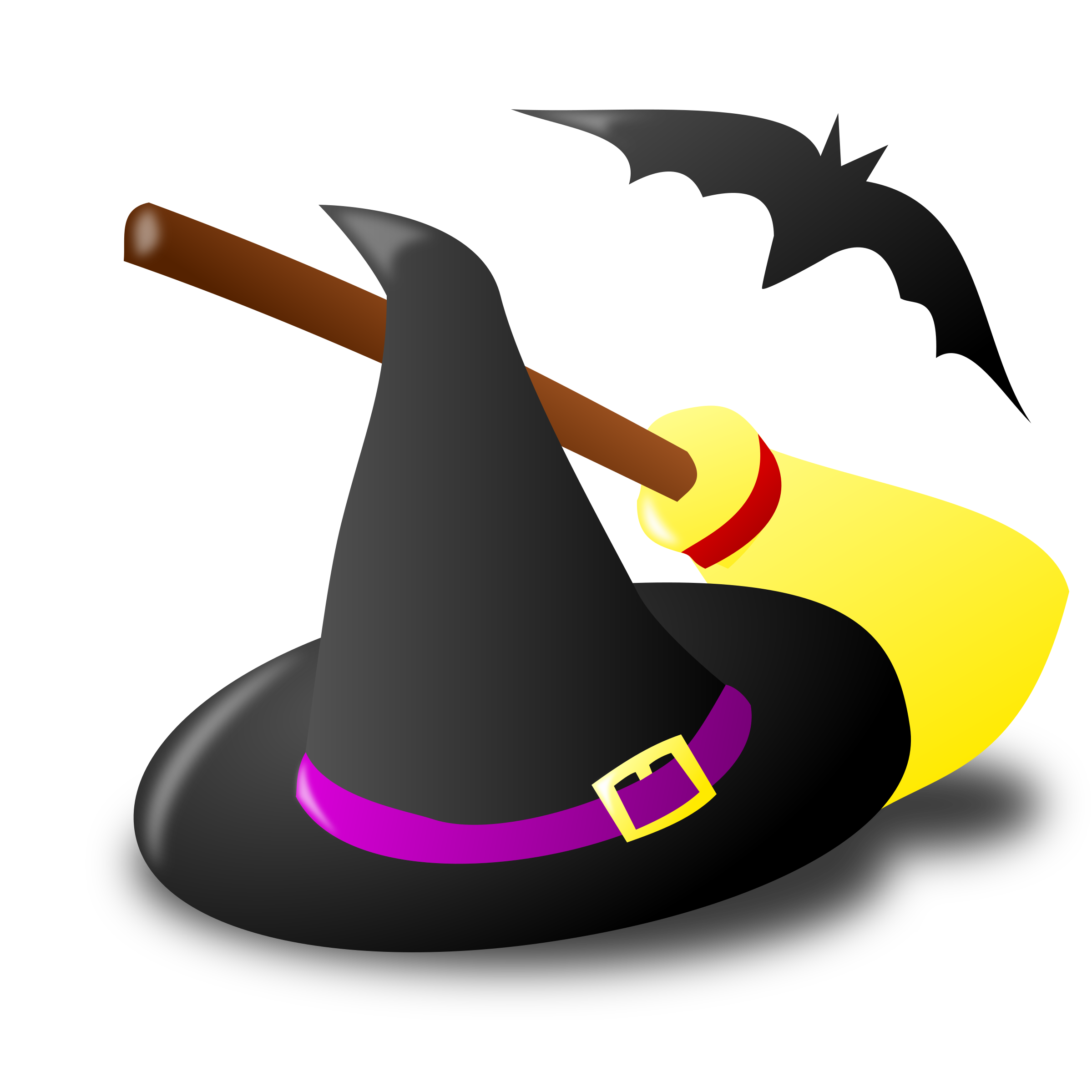 Clipart halloween hats png black and white download Spooky Halloween Stickers - Boo! by Levi Gemmell png black and white download