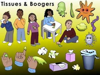Boogers clipart image freeuse library Tissues & Boogers Clip Art image freeuse library