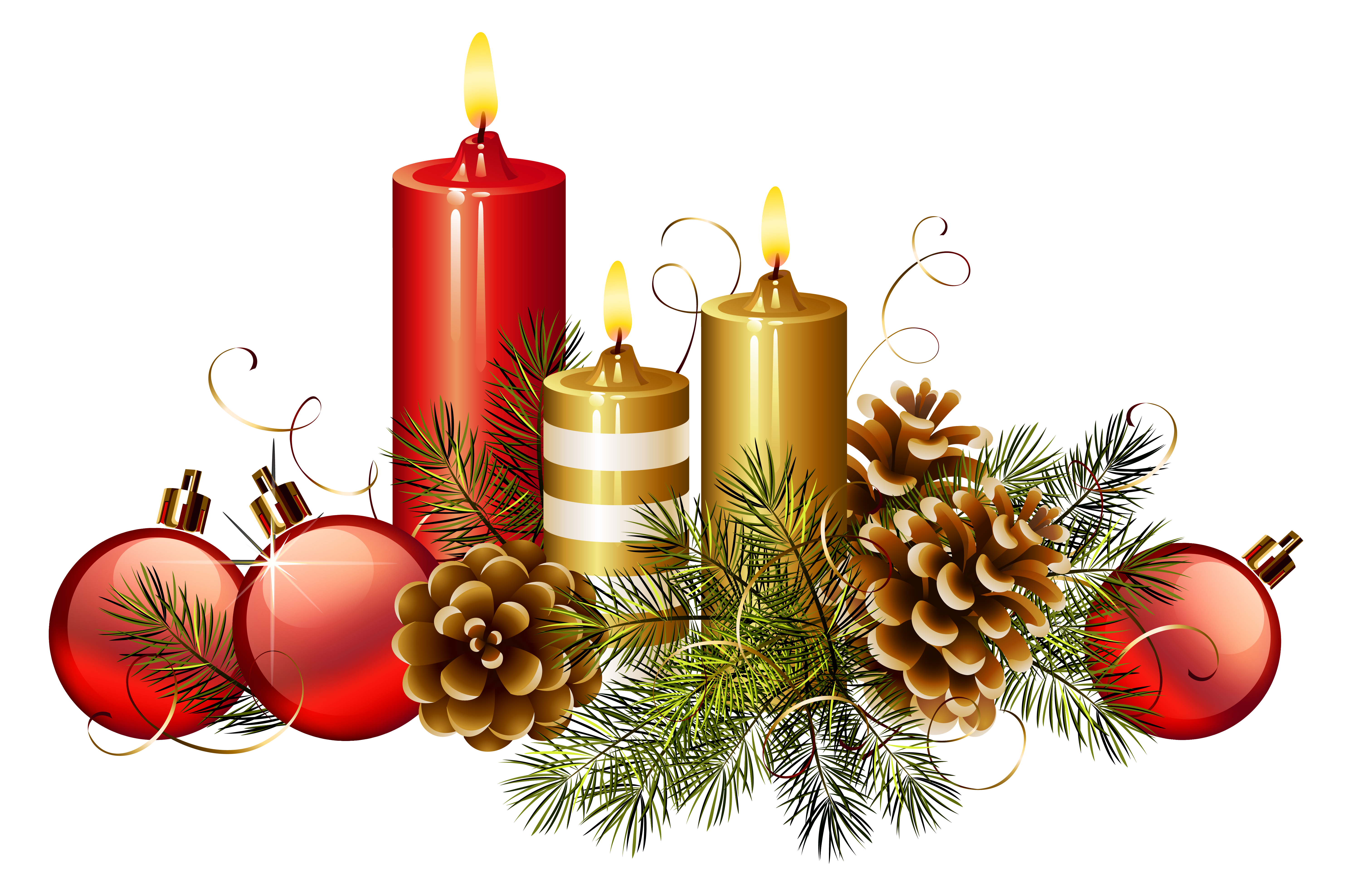 Christian christmas clipart free png royalty free download Christmas Candles PNG Clipart Image | Gallery Yopriceville - High ... png royalty free download