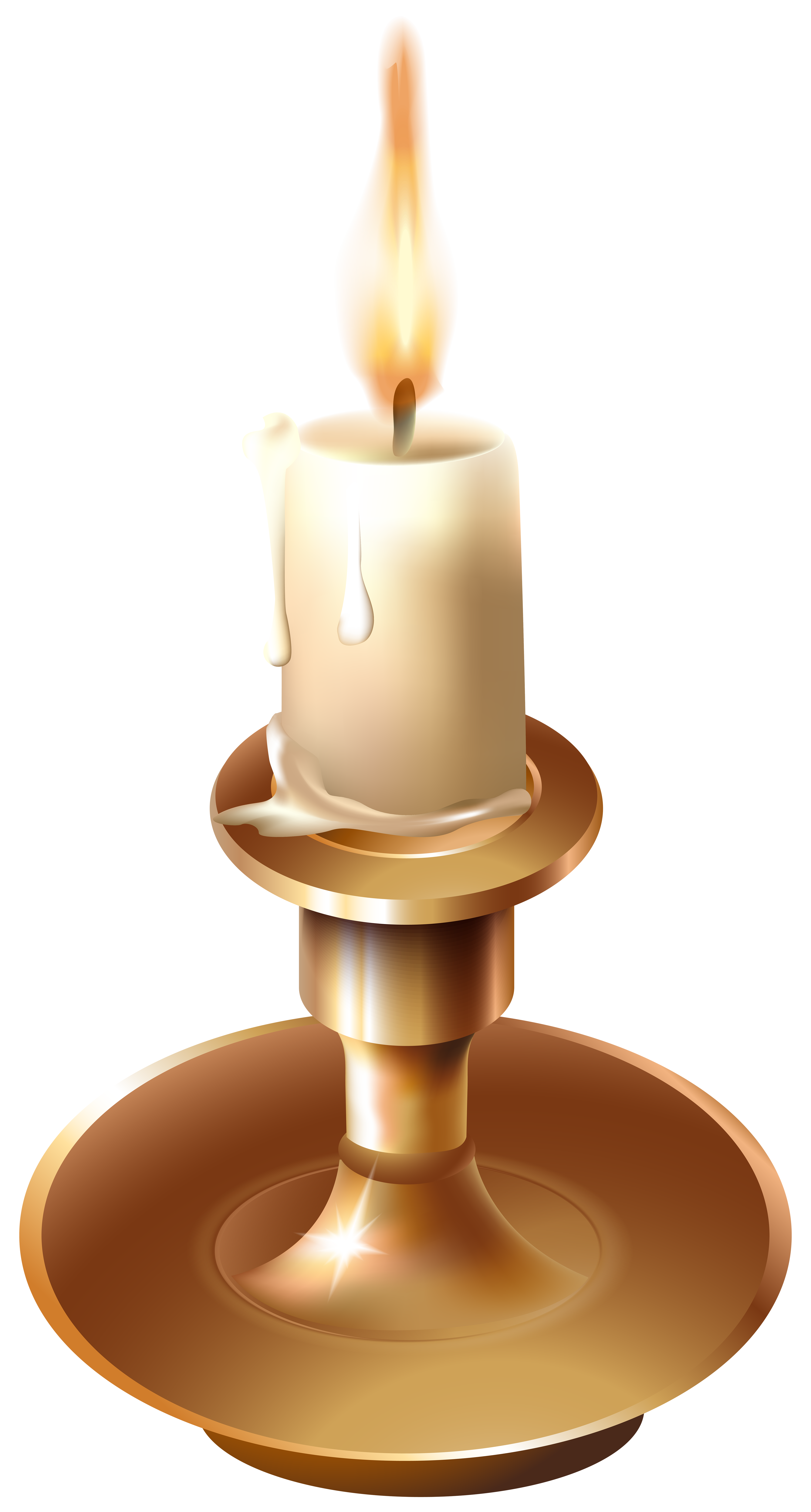 Book and candle clipart free stock Vinatge Candlestick PNG Clip Art - Best WEB Clipart free stock