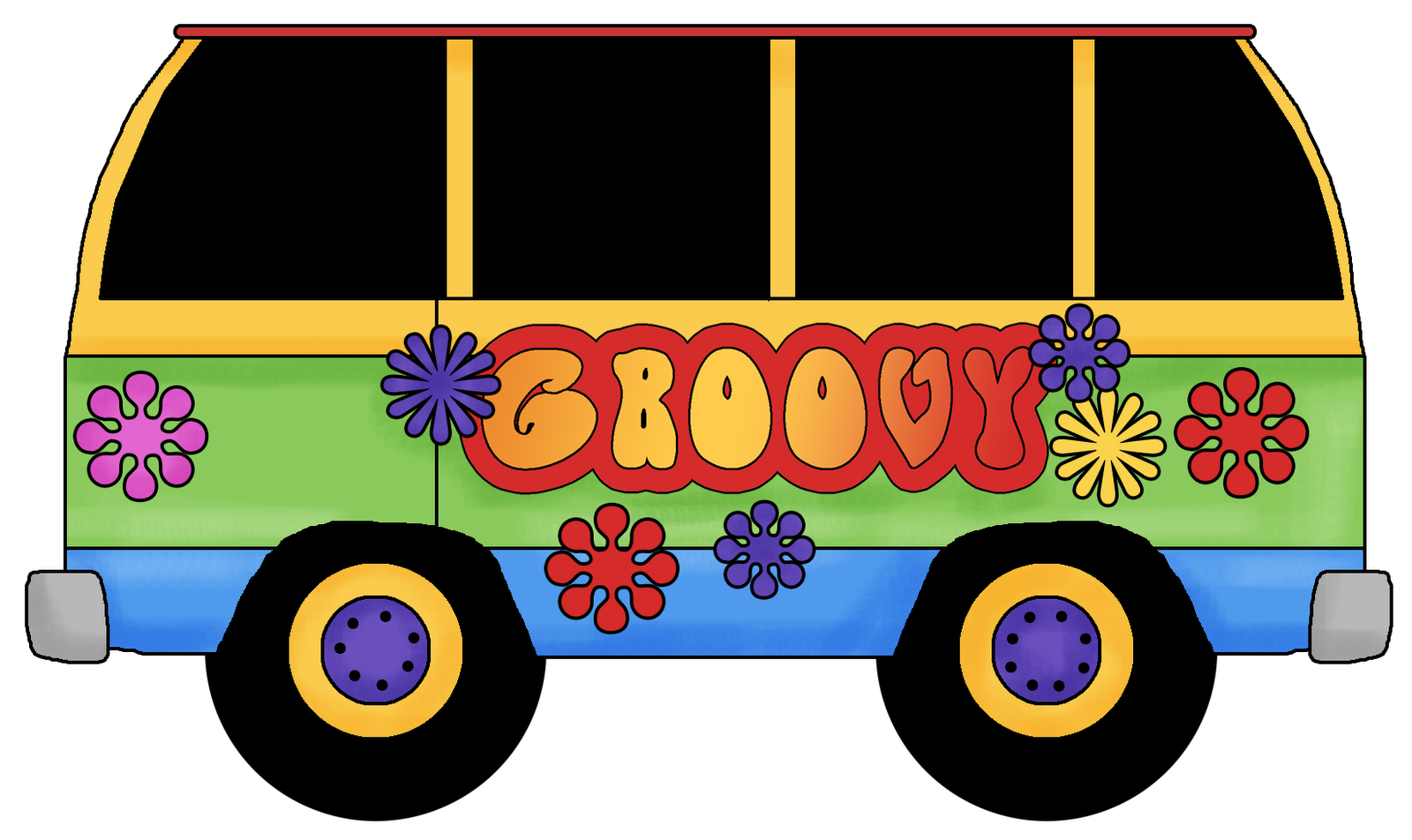 Groovy cat clipart clipart download Groovy Bus Clipart clipart download