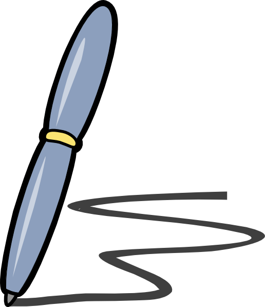 Pen Clip Art at Clker.com - vector clip art online, royalty free ... clip art black and white download