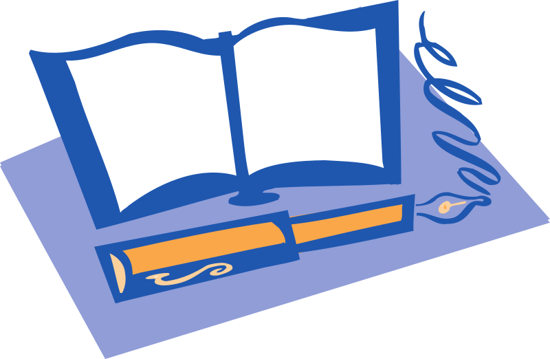 Clipart - Book and Pen image transparent library