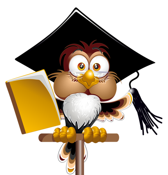 Owl with School Book PNG Clipart Image | Graphics | Pinterest ... graphic black and white library