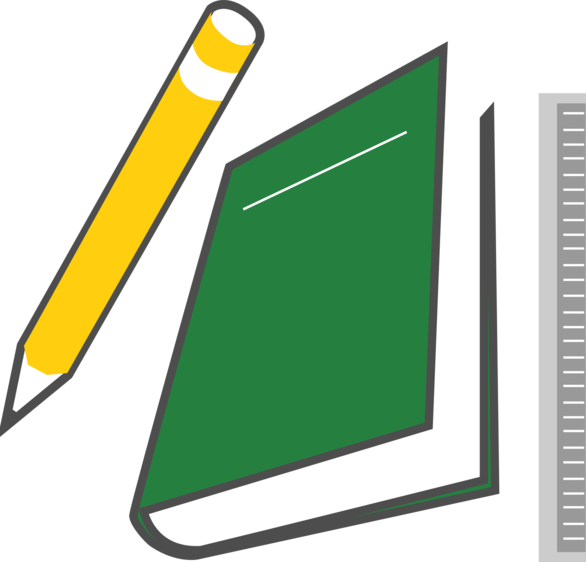 Book pencil clipart