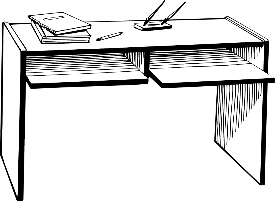 School desk clipart black and white clipart freeuse download Sofa Clipart Black And White. Trendy Bed Black And White Sleep Black ... clipart freeuse download
